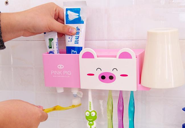 Bộ đồ dùng phòng tắm - dụng cụ đựng bàn chải