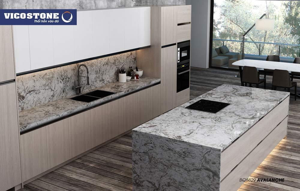 Chọn mẫu đá bàn bếp phù hợp với không gian gia đình